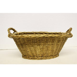 Woven Rattan Handled Basket Preview