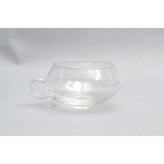 1970s Cut Glass Punch Bowl Set of 14 From Italy For Sale - Image 5 of 8
