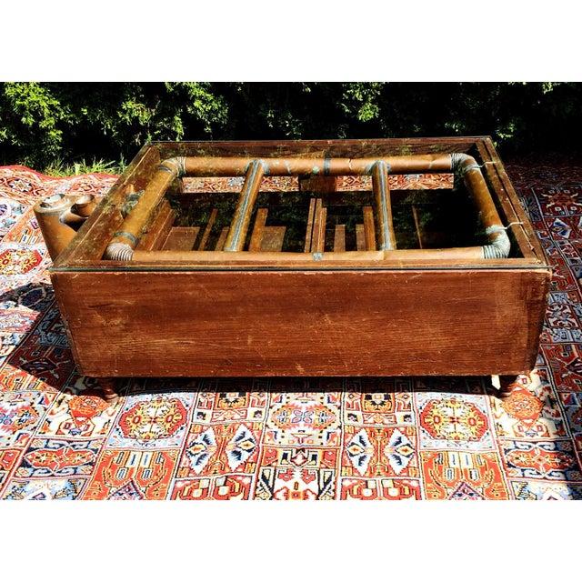 Primitive Super Hatcher Farm Copper Steam Incubator Farmhouse Coffee Table For Sale - Image 10 of 10