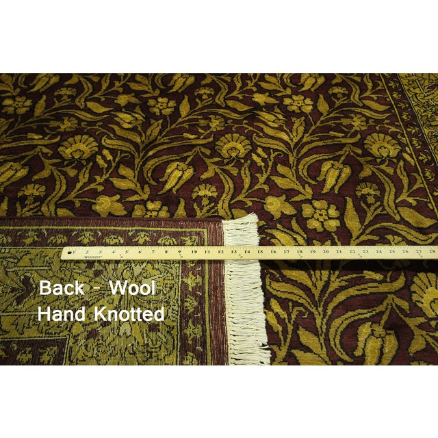 """Suzani Collection Oushak Floral Rug - 6'2"""" x 8'10"""" - Image 5 of 10"""