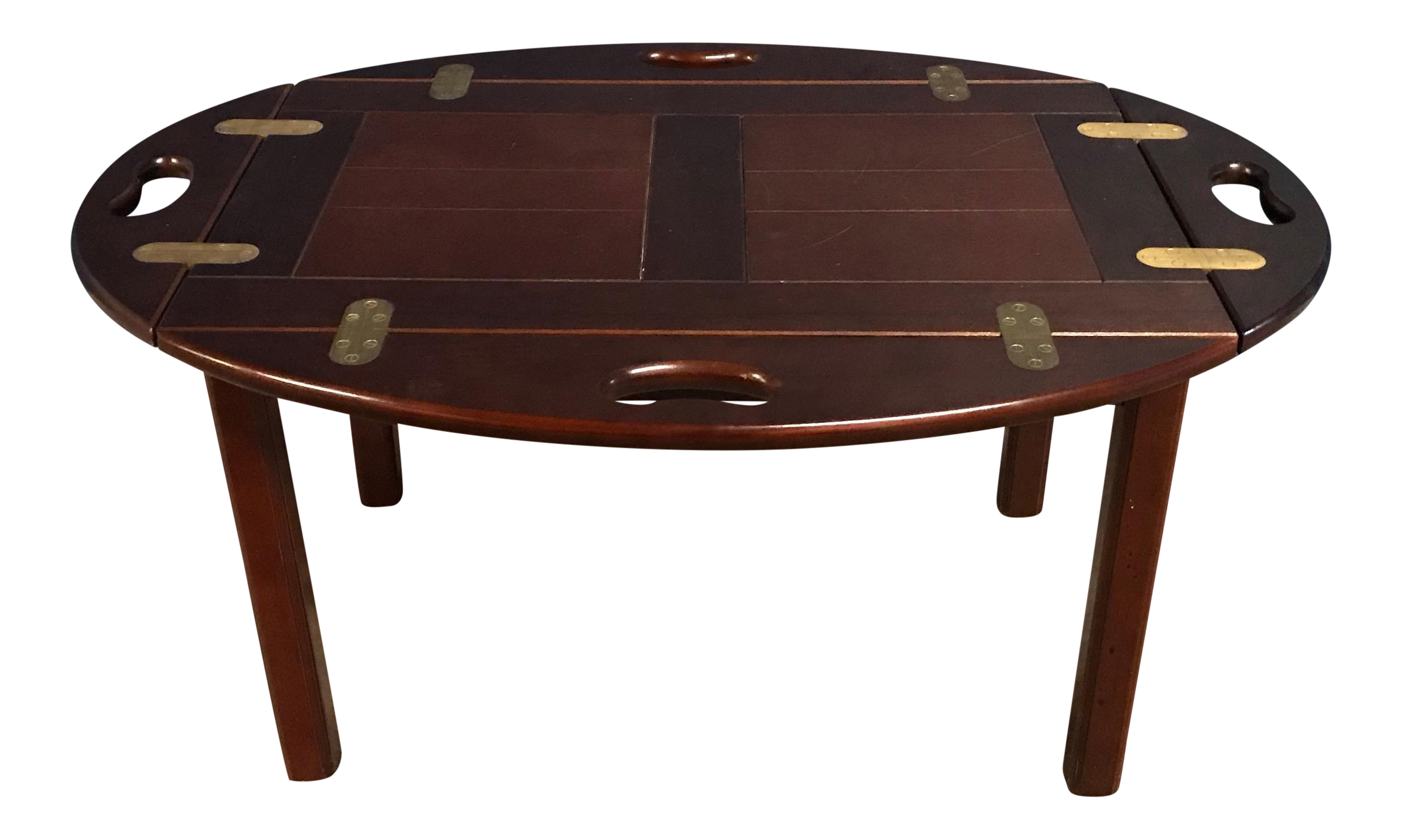 20th Century Contemporary Dark Wood Bombay Butler Tray Coffee Table Chairish