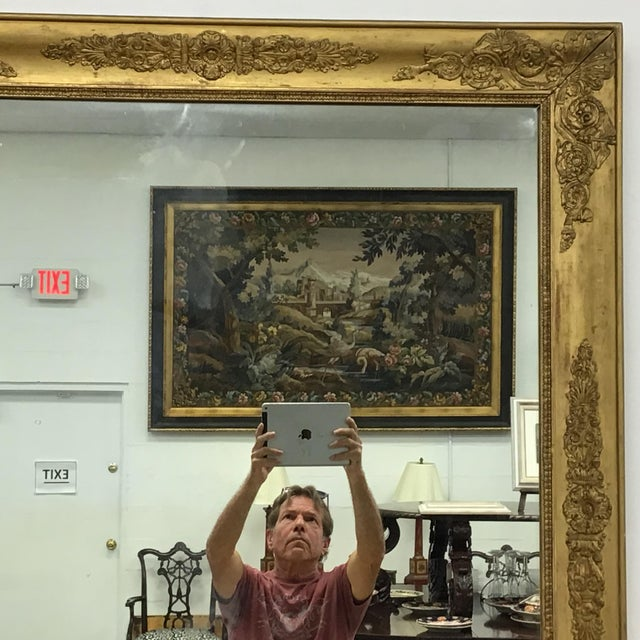 Empire French Empire Style Giltwood Mirror For Sale - Image 3 of 9