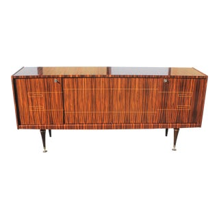 1940s Art Deco Macassar Ebony Sideboard / Buffet For Sale