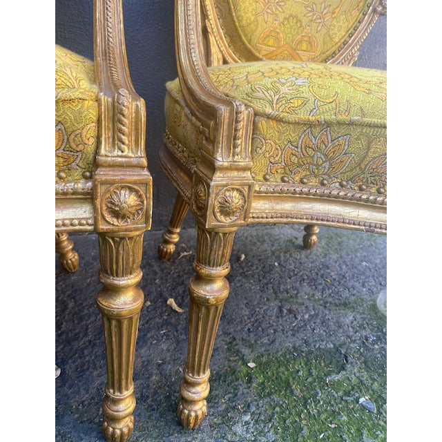 19th C. English Giltwood Armchairs - a Pair For Sale In Los Angeles - Image 6 of 13