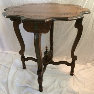 Mahogany and Walnut Aesthetics Movement Lamp Table - by St. Johns Tables Michigan Preview
