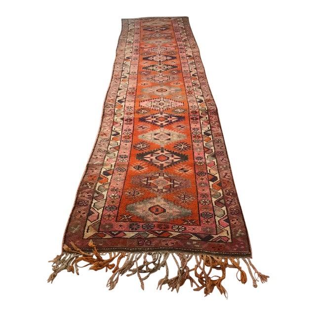 Antique Turkish Long Herki Runner Rug For Sale