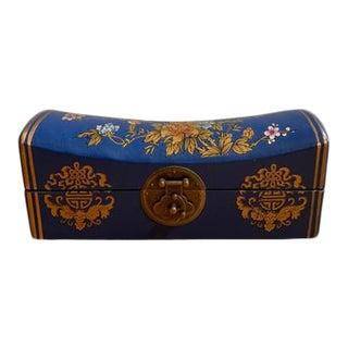 Blue Saddle Shape Jewelry Box For Sale