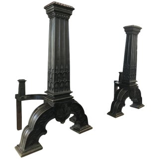 Bronze Andirons, Arts & Crafts For Sale