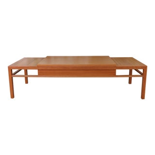 1970s Mid-Century Modern Brown Saltman for John Keal Coffee Table For Sale