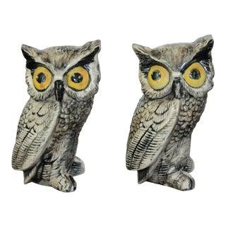 Vintage Ceramic Owls - a Pair For Sale