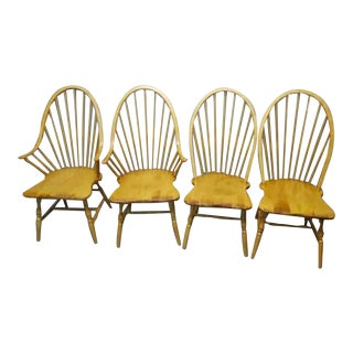Vintage Bentwood Maple Windsor Chairs - 4 pc.