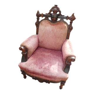 Renaissance Revival Chair With Marquetry For Sale