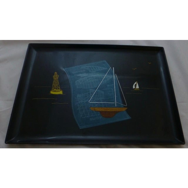 Mid-Century Couroc Sailboat Serving Tray - Image 10 of 10