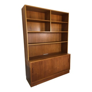 Danish Modern Teak Wall Unit For Sale