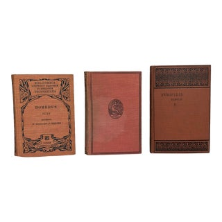 Classical Greek Literature Decorative Books - Set of 3 For Sale