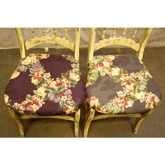 Pair of Wooden Chairs With Floral Seat - Image 2 of 10