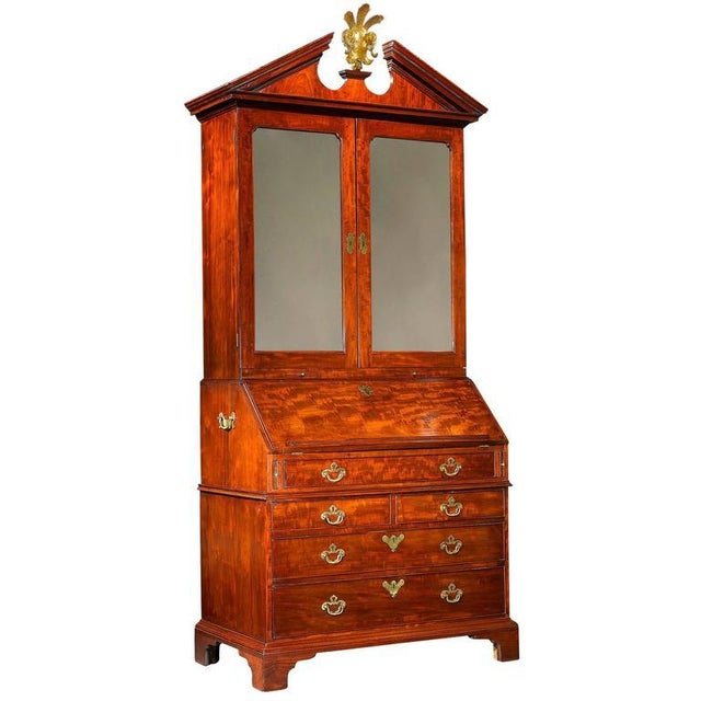 Brown Chippendale Period Georgian Secrétaire For Sale - Image 8 of 8