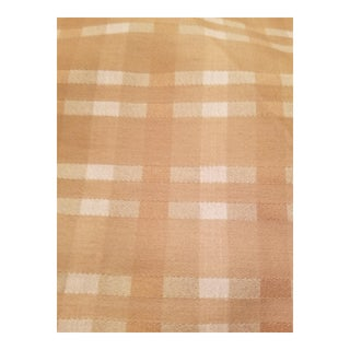 Gold Plaid Silk Heavyweight Designer Fabric 3.3 Yards