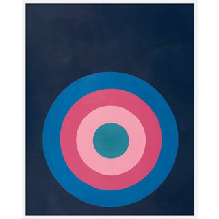 "Large ""Target Practice in Pinks"" Print by Stephanie Henderson, 41"" X 51"" For Sale"