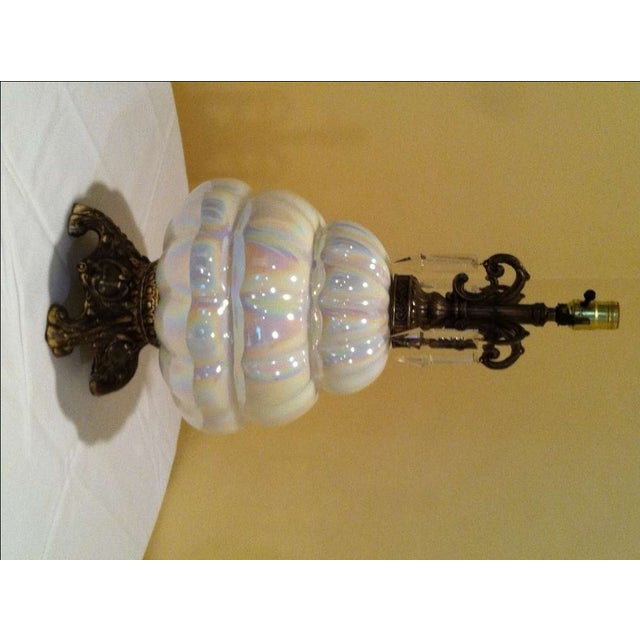 Fe Opal Table Lamps - Pair For Sale - Image 5 of 5