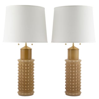 Helena Tynell for Luxus Butterscotch Glass Table Lamps, Circa 1960s For Sale