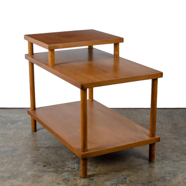 Mid-Century Modern t.h. Robsjohn-Gibbings for Widdicomb Step Side Table For Sale - Image 3 of 11