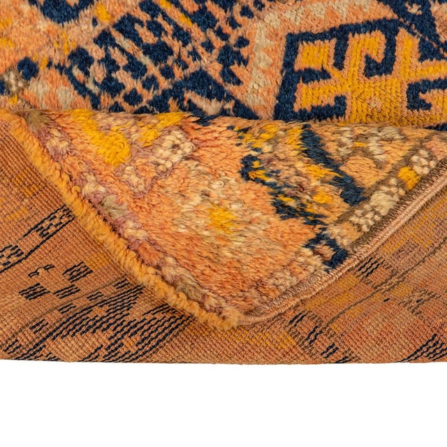 Vintage Yellow Turkish Runner Rug 3'x8' For Sale - Image 4 of 5