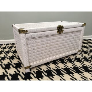 Vintage Wicker and Rattan Trunk Preview