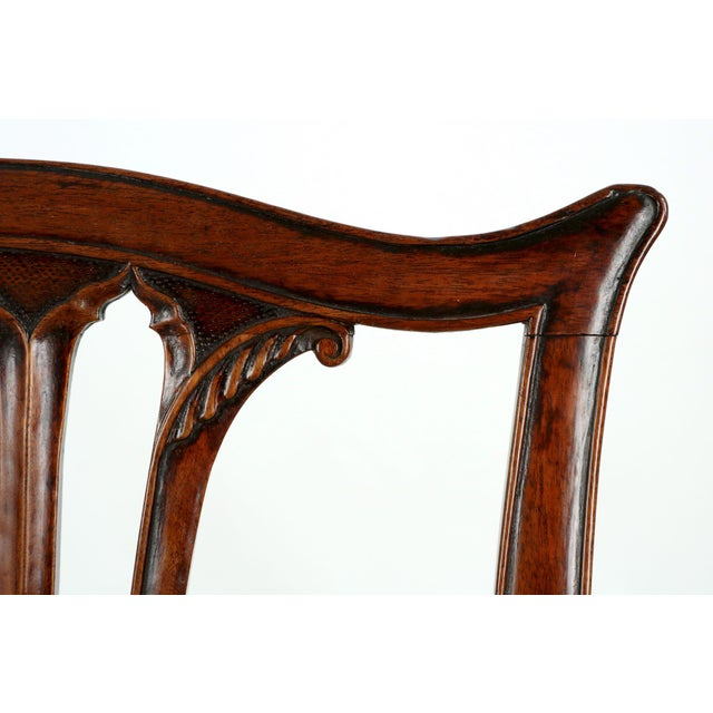 18th Century Chippendale Period Mahogany Side Chairs - a Pair - Image 7 of 10
