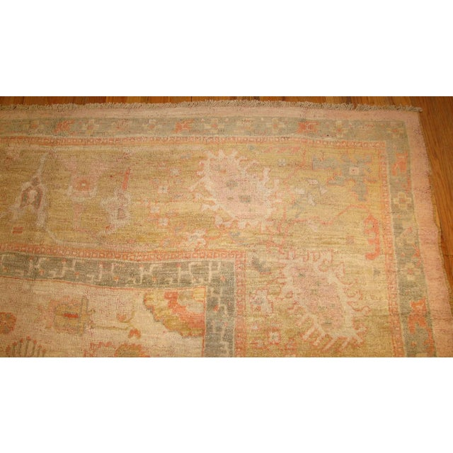 Early 20th Century Antique Turkish Oushak Rug - 13′3″ × 15′9″ For Sale - Image 5 of 8