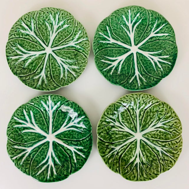 Vintage Williams Sonoma Green Cabbage Plates - Set of 4 For Sale - Image 10 of 10