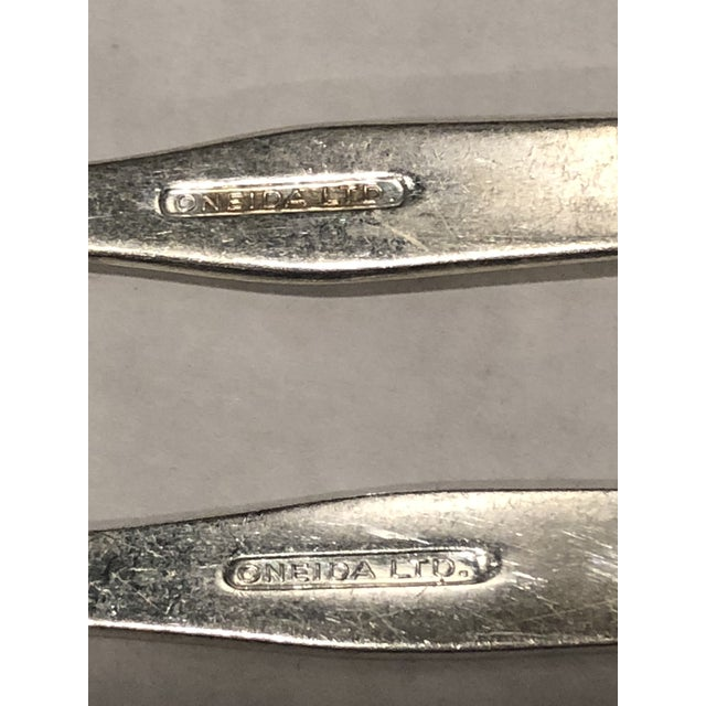 Metal United Airline Vintage Flatware - For Sale - Image 7 of 8