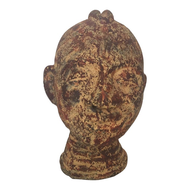 Metal Ethnographic Head For Sale