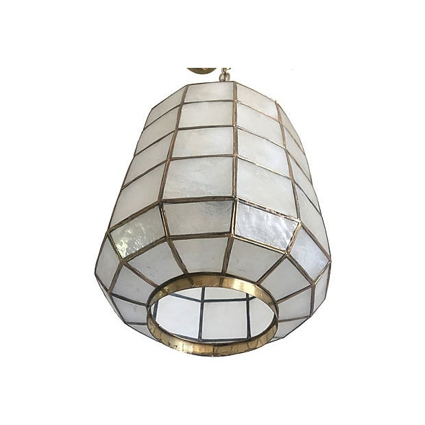 1960s Capiz Shell Lanterns - a Pair For Sale - Image 5 of 9