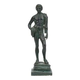Cast Bronze Male Figurine For Sale