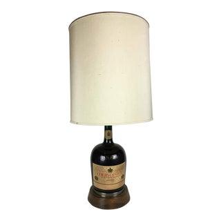 Mid-Century Courvoisier Cognac Glass Bottle Lamp
