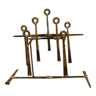 Mid-Century Modern Brass Sculpture For Sale