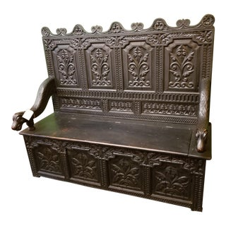 High-Back Box Settee Bench For Sale