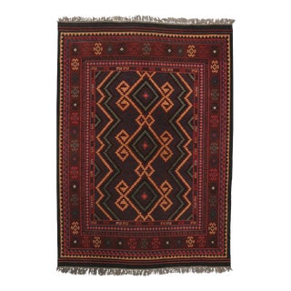 Boho Chic Vintage Turkish Flatweave Kilim Rug with Modern Tribal Style
