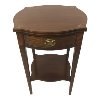 Traditional Baker Historic Charleston Mahogany Fan Inlay Side Table For Sale