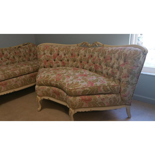 Vintage French Style Tufted Sofa- Corner Available 3 Pcs - Image 10 of 10