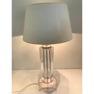 Tall Lucite Column Table Lamp Preview