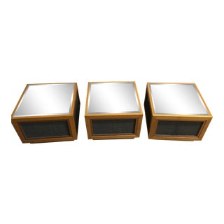 Mirrored Square Coffee Tables - Set of 3