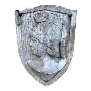 Vintage Cast Stone Classical Roman Centurion Relief Plaque