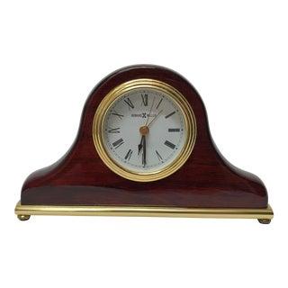 Vintage Mid Century Howard Miller Mantel Clock For Sale