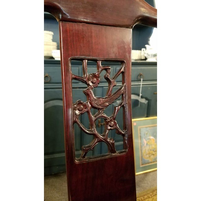 Chinese Hand Carved Rosewood Dining Set for Eight - Image 11 of 11
