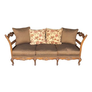Vanguard French Country Ladderback Sofa For Sale
