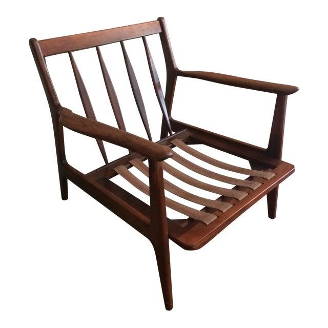 Terrific Mid Century Modern Baumritter Wood Lounge Chair Inzonedesignstudio Interior Chair Design Inzonedesignstudiocom