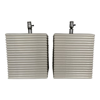 Pair George Kovacs Mid Century Modern Ceramic Large Lamps For Sale