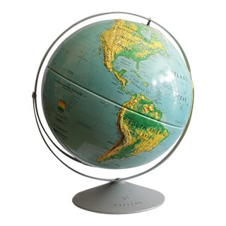 Large Classroom World Globe c. 1980s